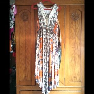 One World Long Dress V'd in front New Large
